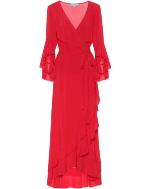 Красное платье макси из вискозы Melissa Odabash