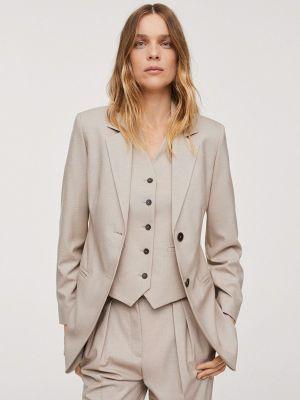 Бежевый зимний пиджак Mango