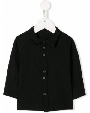 Czarna koszula bawełniana z długimi rękawami Little Creative Factory Kids