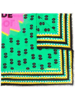 Шарф зеленый двуспальный La Doublej