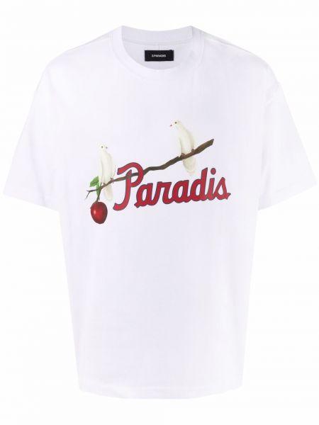 T-shirt bawełniany z printem krótki rękaw 3.paradis
