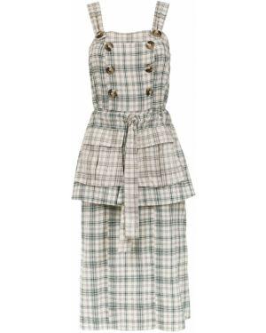 Платье миди на пуговицах с поясом Framed