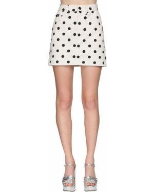 Джинсовая юбка мини - белая Marc Jacobs