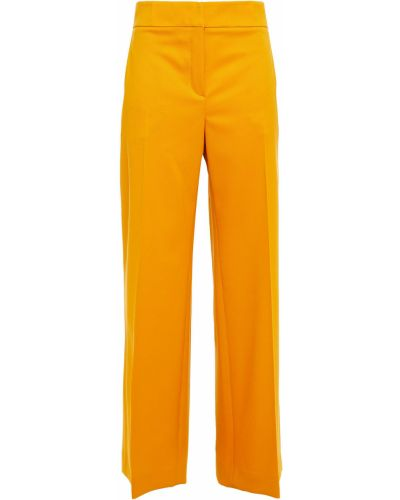 Шерстяные брюки с карманами свободного кроя Oscar De La Renta