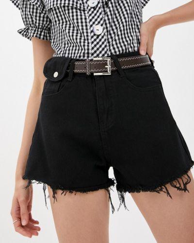 Черные джинсовые шорты Fadjo