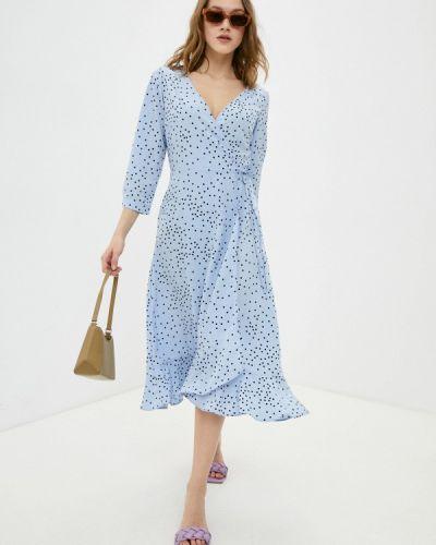 Платье с запахом - голубое Zarina