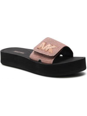 Różowe złote sandały na platformie Michael Michael Kors