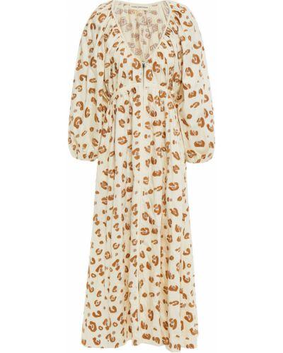 Хлопковое платье миди - бежевое Mara Hoffman