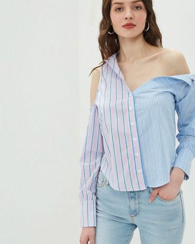 Блузка с открытыми плечами голубой Glamorous