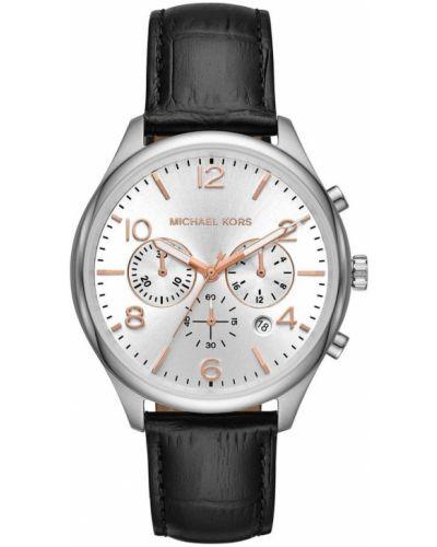 Szary zegarek na skórzanym pasku skórzany kwarc Michael Kors