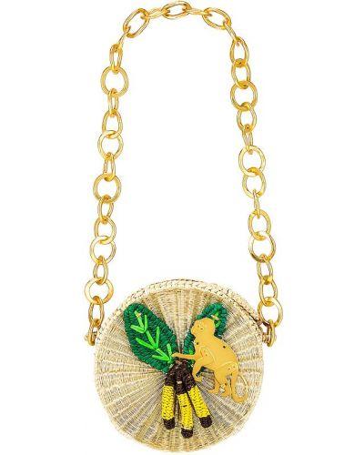 Złota torebka na łańcuszku Mercedes Salazar
