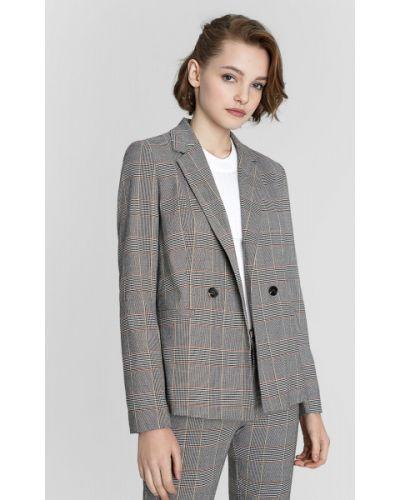 Серый пиджак на пуговицах с лацканами с капюшоном Ostin
