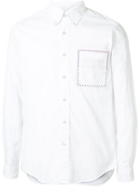 Белая рубашка с воротником на пуговицах с карманами Sophnet.