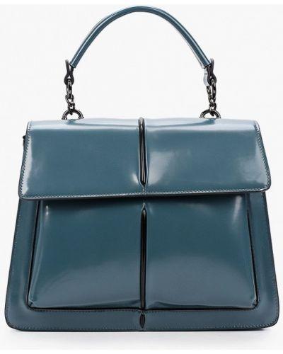 Кожаная зеленая сумка Vitacci