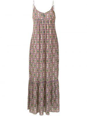 Шелковое платье с V-образным вырезом Nicole Miller