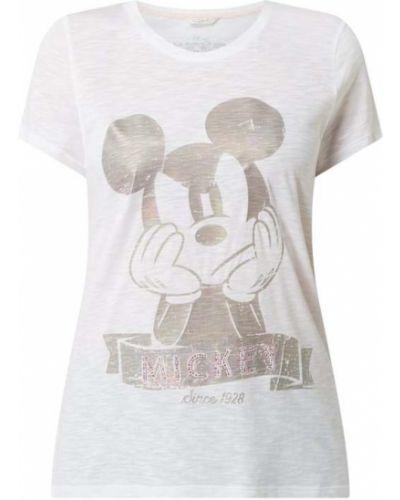 Biały t-shirt bawełniany z printem Frogbox