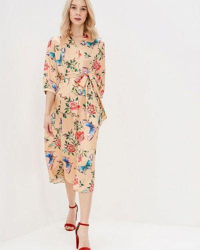 Платье весеннее бежевое Zeza