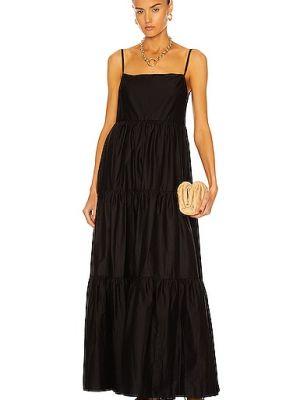 Хлопковое черное платье с подкладкой Matteau