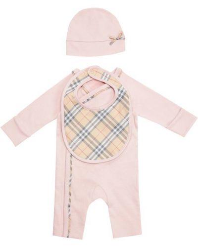 Розовая пижама трикотажная Burberry