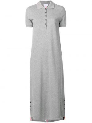 Sukienka mini asymetryczna w paski krótki rękaw Thom Browne
