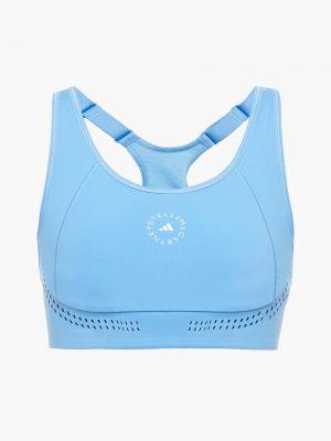 Синий спортивный бюстгальтер Adidas By Stella Mccartney