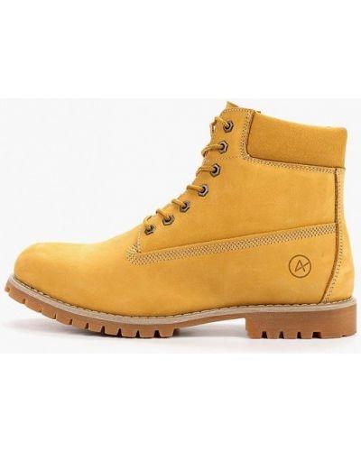 Ботинки из нубука - желтые Affex