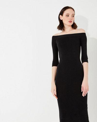 Черное платье с длинными рукавами Liu Jo