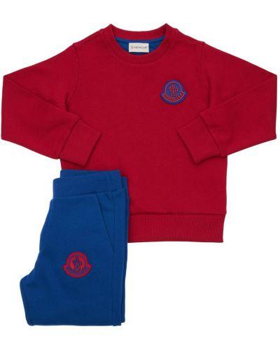 Bawełna bawełna bluza prążkowany Moncler
