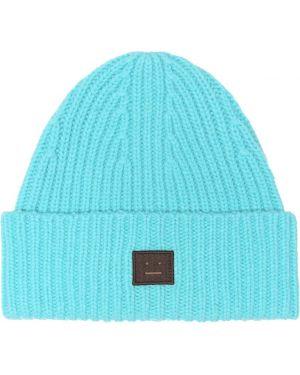 Niebieski czapka beanie wełniany Acne Studios Kids