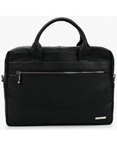Черная кожаная сумка Fabretti