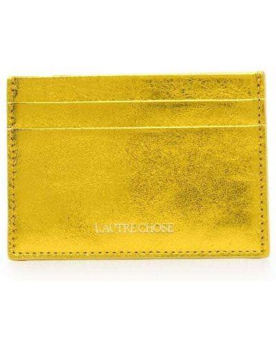 Желтая кожаная визитница L'autre Chose