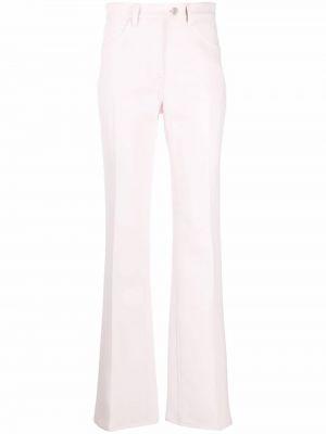 Różowe spodnie z paskiem Courreges