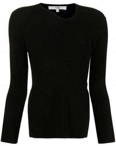 Czarna koszulka z wiskozy Tibi