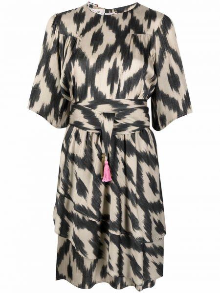 Черное платье с короткими рукавами из вискозы Bazar Deluxe