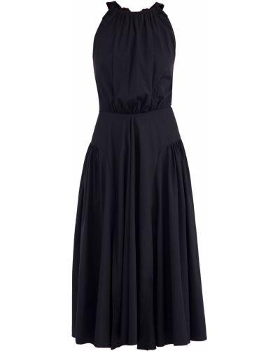 Платье миди с цветочным принтом с вышивкой Blumarine