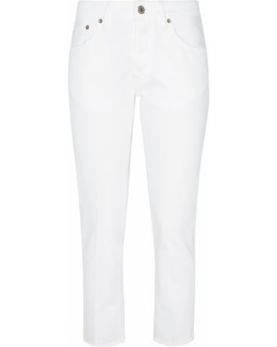 Укороченные джинсы белые Golden Goose Deluxe Brand