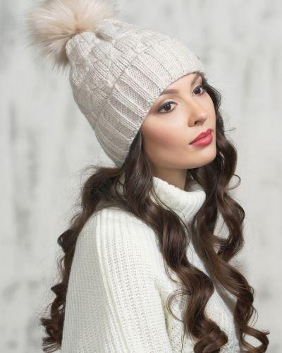 Бежевая шапка шерстяная Vay