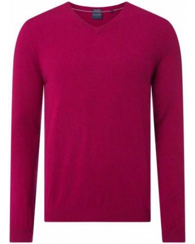 Prążkowany różowy z kaszmiru sweter Christian Berg Men