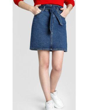 Юбка мини джинсовая классическая Ostin