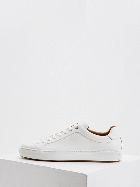 Белые кожаные кроссовки Boss
