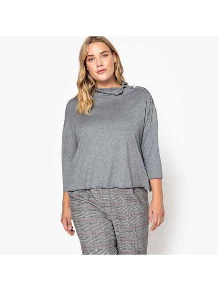 Пуловер с воротником-стойкой на пуговицах Castaluna
