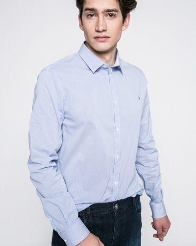 Синяя рубашка Trussardi Jeans
