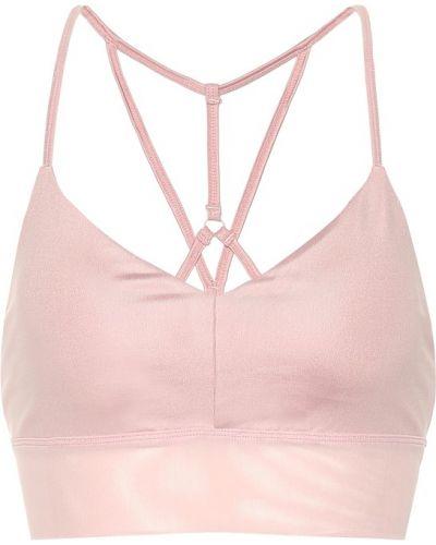 Розовый спортивный бюстгальтер для йоги Alo Yoga