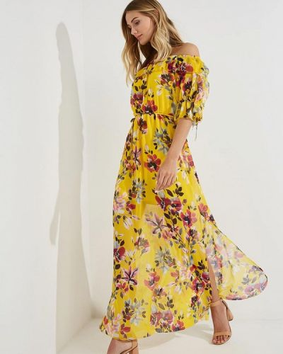 Желтое платье весеннее French Connection