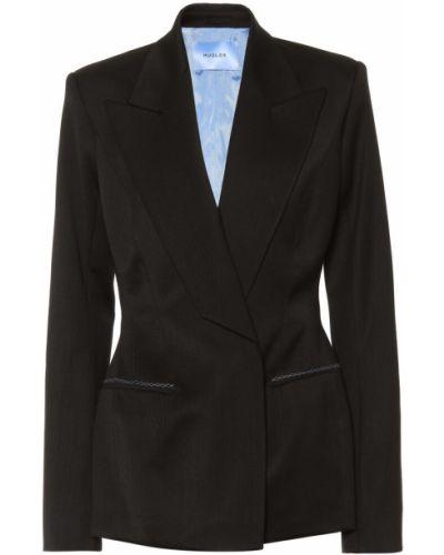 Черный пиджак с карманами Mugler