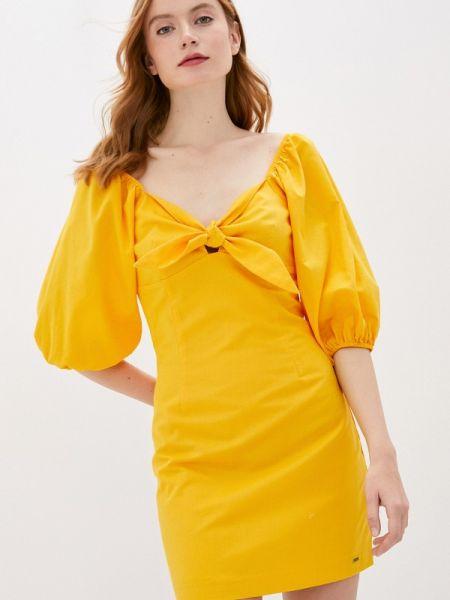 Желтое джинсовое платье Pepe Jeans