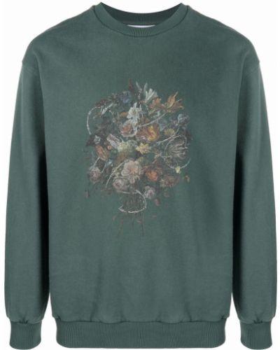 Zielona bluza z printem Han Kjobenhavn