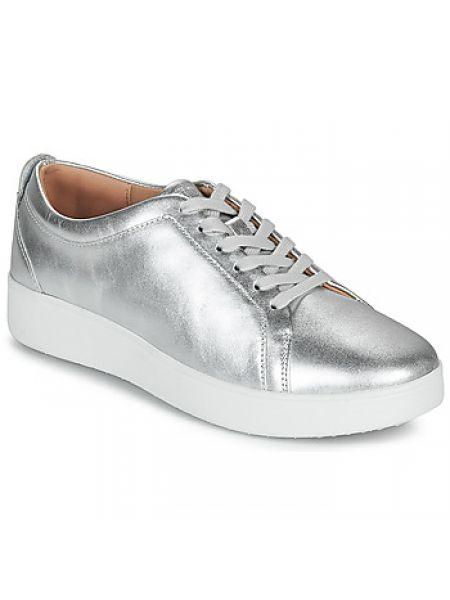 Sneakersy srebrne Fitflop