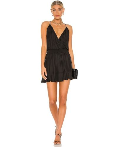 Трикотажное платье - черное Bobi
