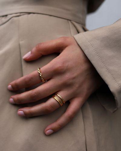 Złoty pierścionek pozłacany Missoma